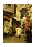 Promenade on an Indian Street Giclee Print by Edwin Lord Weeks