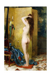 A Standing Nude Giclee Print by Frans Verhas