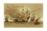 Voyage of Philip the Fair to Spain Giclee Print by Willem II Steelink