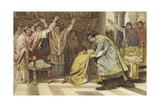 Election of Frederick I as Bishop of Utrecht, 817 Giclee Print by Willem II Steelink