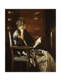 Mary Reading Giclee Print by Edmund Charles Tarbell