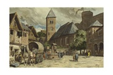 Street Scene, Netherlands, 10th Century Giclee Print by Willem II Steelink