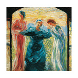 Triptych: We Venerate the Mother Giclee Print by Umberto Boccioni