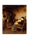 Mother and Child, 1868 Giclee Print by Eastman Johnson
