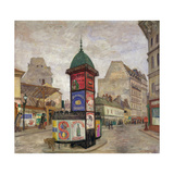 Advertisement Pillar, 1910 Giclee Print by Anders Svarstad