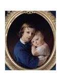 Paul and Rene Dubufe, C.1852 Giclee Print by Claude-Marie Dubufe