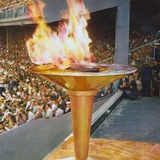 The Olympic Flame at the 1956 Melbourne Olympics Fotoprint