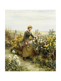 The Gardener's Daughter Giclee Print by Daniel Ridgway Knight