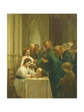 Good Friday in Notre-Dame Church Giclee Print by Pierre Edouard Frere