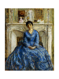 The Blue Gown Giclee Print by Frederick Carl Frieseke