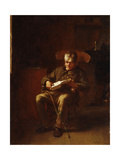 Dropping Off, 1873 Giclee Print by Eastman Johnson