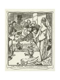 Sir Mador Accuses Guenevere Giclee Print by Henry Justice Ford