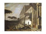 Feast in Villa of Poggioreale Giclee Print by Viviano Codazzi