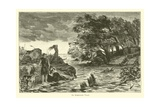 The Cimbrian Flood Giclee Print by Willem II Steelink
