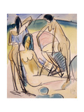 Bathers on the Shore, Fehmarn Giclee Print by Ernst Ludwig Kirchner