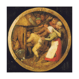 The Drunkard Pushed into the Pigsty Giclee Print by Pieter the Elder Bruegel