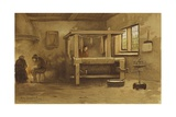 Weaver's Workshop, Netherlands, 16th Century Giclee Print by Willem II Steelink