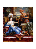 An Allegory of America Paying Homage to Europe Giclee Print by Pierre Mignard