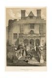 Cranbourne, Dorsetshire, Garden Front Giclee Print by Joseph Nash