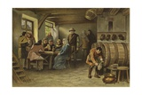 Scene in a Dutch Tavern, 14th Century Giclee Print by Willem II Steelink