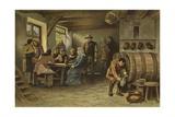 Scene in a Dutch Tavern, 14th Century Giclee Print by Willem II Steelink