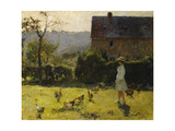 By the Farmhouse Giclee Print by Evariste Carpentier