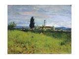 Church in Country Giclee Print by Silvestro Lega
