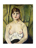 Woman with Bare Breasts Giclee Print by Marie Clementine Valadon