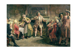 The Coffee House Orator Giclee Print by Edgar Bundy