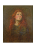 Portrait Study of a Girl with Red Hair, C.1885 Giclee Print by George Frederick Watts