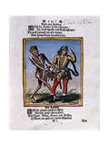 Death and the Peddler, C.1710 Giclee Print by Matthaus, The Elder Merian