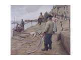 Mousehole Harbour, 1907 Giclee Print by Harold Harvey