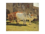 Oxen and Wagon Giclee Print by Giuseppe Abbati