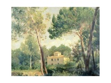 Landscape with Farmhouse Giclee Print by Alessandro Franchi