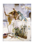 The Neighbours, Terraces of Algiers, 1887 Giclee Print by Frederick Arthur Bridgman