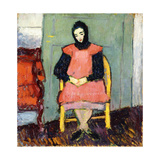 Girl in Yellow Chair, 1906-07 Giclee Print by Alexej Von Jawlensky
