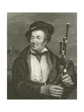 The Bag Piper Giclee Print by Sir David Wilkie
