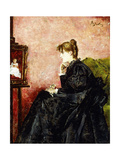 Lady in Black Giclee Print by Alfred Emile Stevens