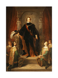 Portrait of Ludwig I, King of Bavaria Giclee Print by Frederich August Kaulbach