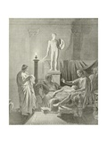 Octavia Overcomme by Virgil's Verses Giclee Print by Jean-Auguste-Dominique Ingres