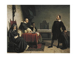 Galileo before the Roman Inquisition, 1857 Giclee Print by Cristiano Banti