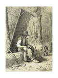 The Road Mender Giclee Print by Jean-François Millet