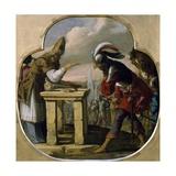 Abraham and Melchizedek Giclee Print by Laurent de La Hyre