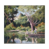 Rolleboise, Bathing Giclee Print by Maximilien Luce