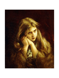 A Pensive Moment, 1882 Giclee Print by Virgilio Tojetti