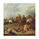 A Cavalry Battle Giclee Print by Palamedes Palamedesz