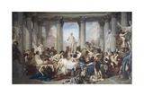 Romans of Decadence, 1847 Giclee Print by Thomas Couture