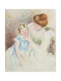 Mother with Left Hand Holding Sara's Chin Giclee Print by Mary Stevenson Cassatt