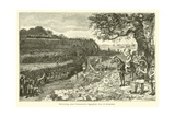 Attack on a Germanic Encampment by the Romans Giclee Print by Willem II Steelink