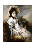 Portrait of a Young Girl Seated in a Landscape Giclee Print by Jacques-emile Blanche